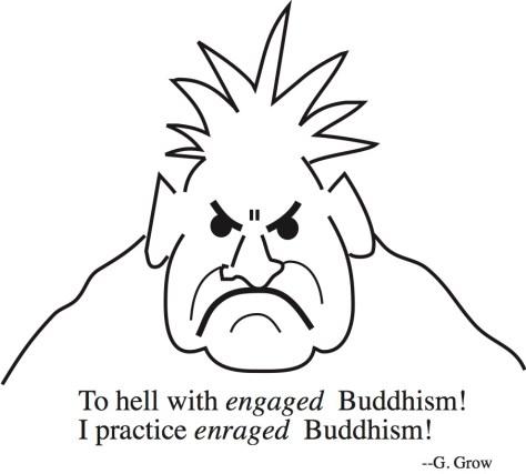 Enraged Buddhism drawing