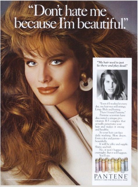 Pantene magazine ad from 1987.