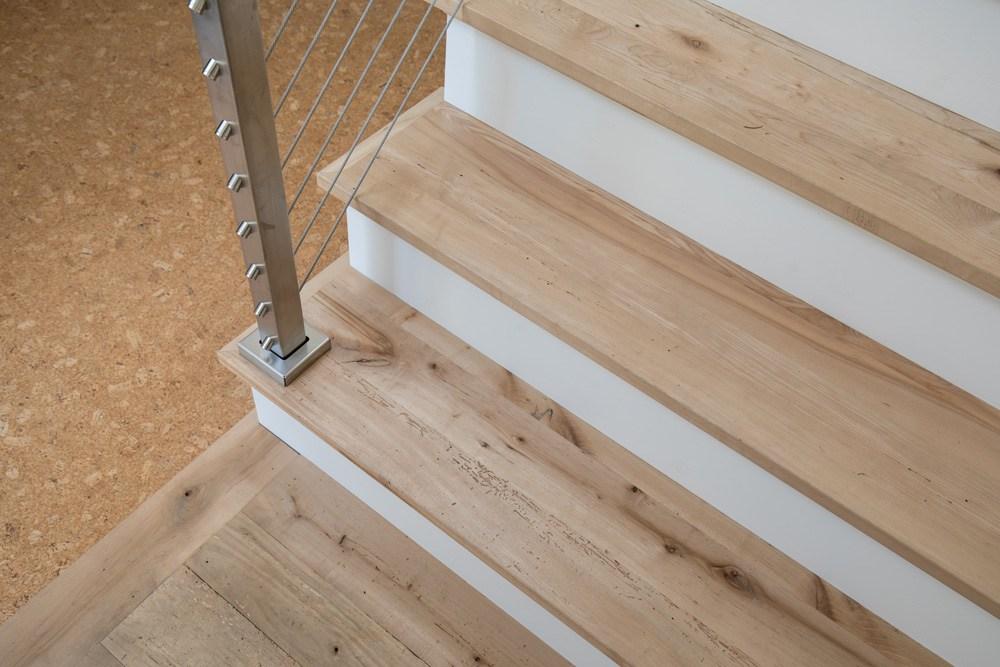 Longleaf Lumber Custom Reclaimed Wood Stair Treads Mouldings | Reclaimed Wood Stairs For Sale | Stair Railing | Wooden | Staircase Makeover | Handrail | Van Gieson
