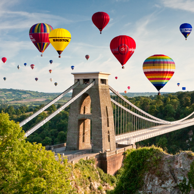 Bristol Balloon Fiesta display over Clifton Suspension Bridge, B