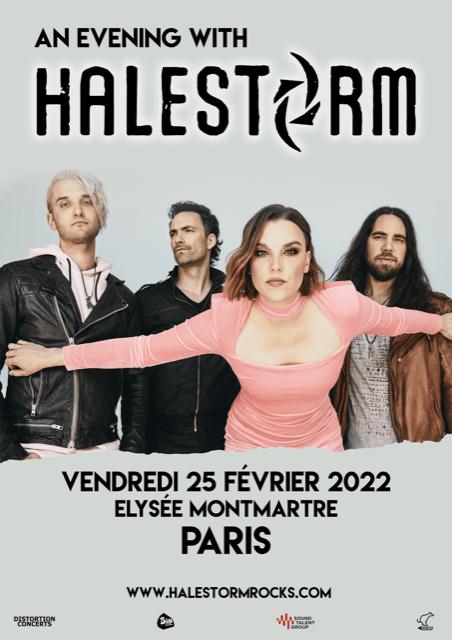 Affiche concert Halestorm Paris 2022