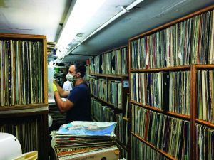 The Thing New York record shopping in New York