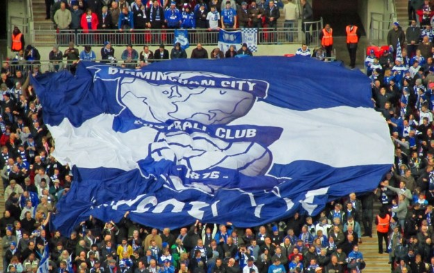 Blues flag at Wembley