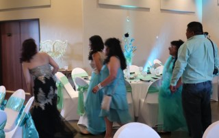 people at a quinceanera hosted by longmeadow