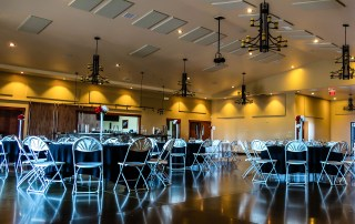 An amazing photo of the 4000sqft. banquet hall at Longmeadow Event Center