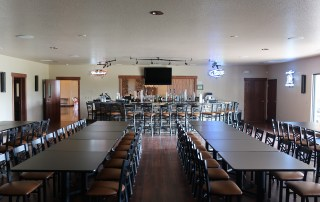a bar and seats at longmeadow corporate event center