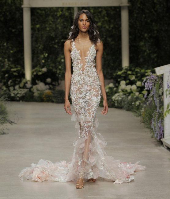 A beautiful woman sporting a beautiful wedding dress