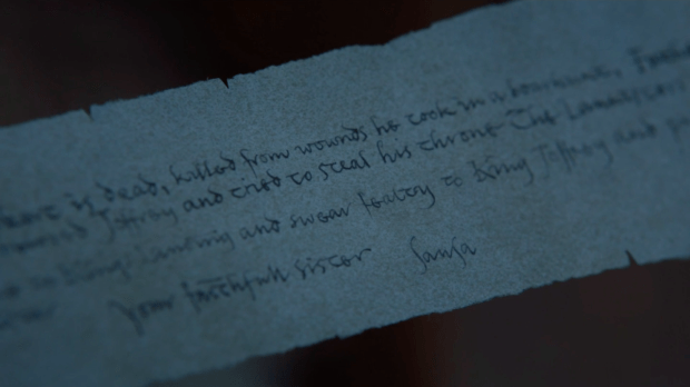 What Did Arya Stark Find In The Letter