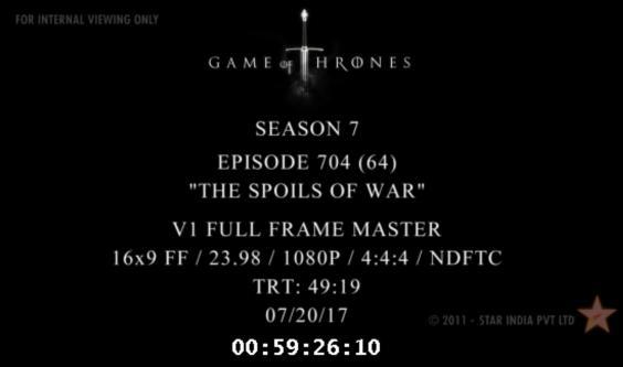 Game of Thrones Season 7 Episode 4 Leaked