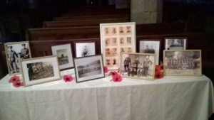 WW1 display in Church