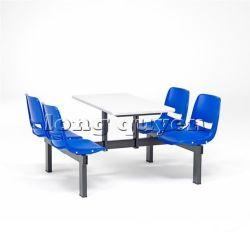 Bàn ghế ăn công nghiệp bàn liền ghế có tựa lưng