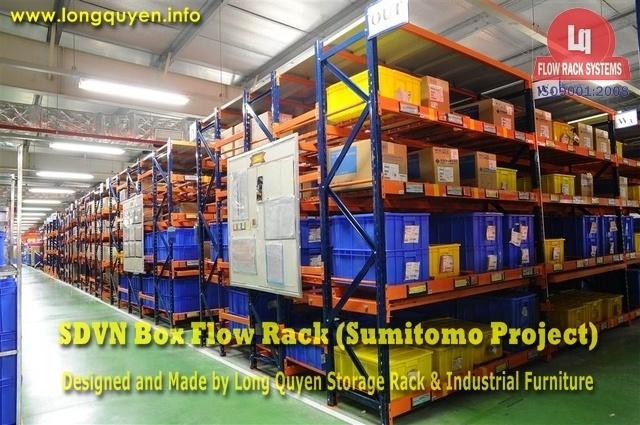 giá kệ trôi box flow rack 1c