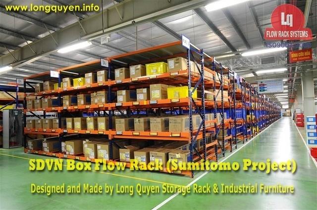 giá kệ trôi box flow rack 1d