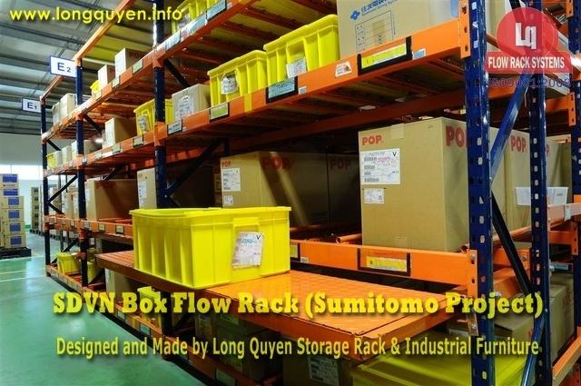 giá kệ trôi box flow rack 1i