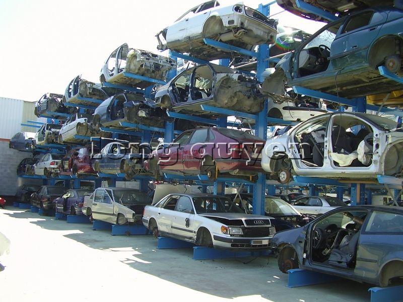 Giá kệ Cantilever lưu trữ ô tô cũ trong các kho bãi (4)