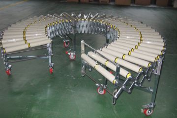 flexible gravity roller conveyors