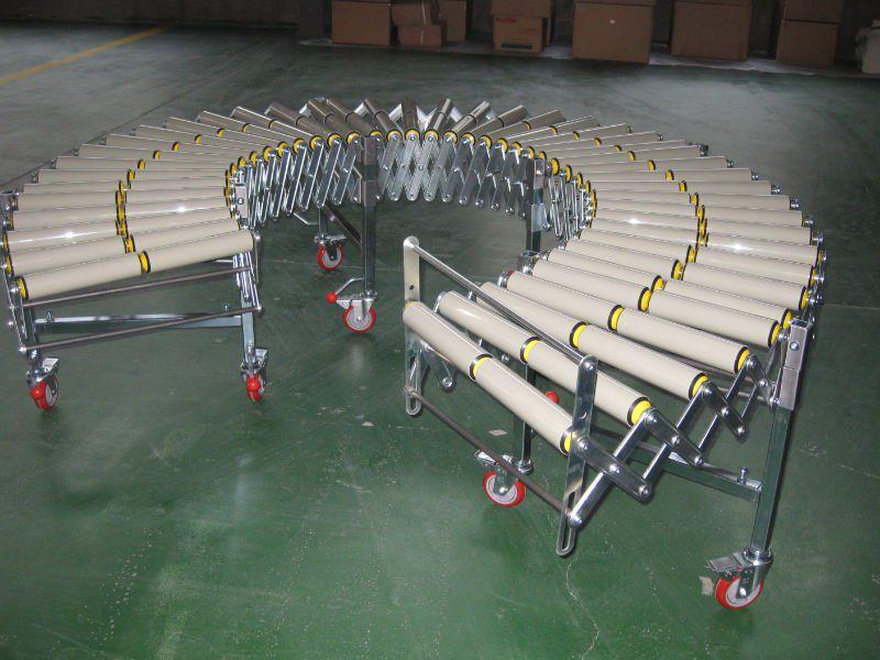 flexible gravity roller conveyors