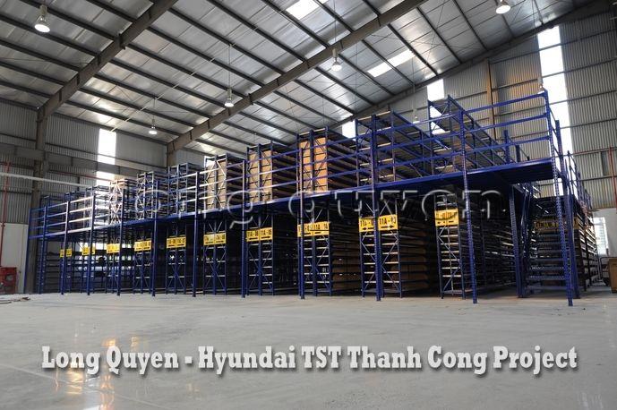 Giá Kệ Kho Phụ Tùng Sàn Tầng Lửng Công ty Hyundai TST Thành Công (2)