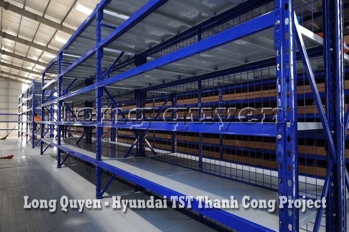 Giá Kệ Kho Phụ Tùng Sàn Tầng Lửng Công ty Hyundai TST Thành Công (3)