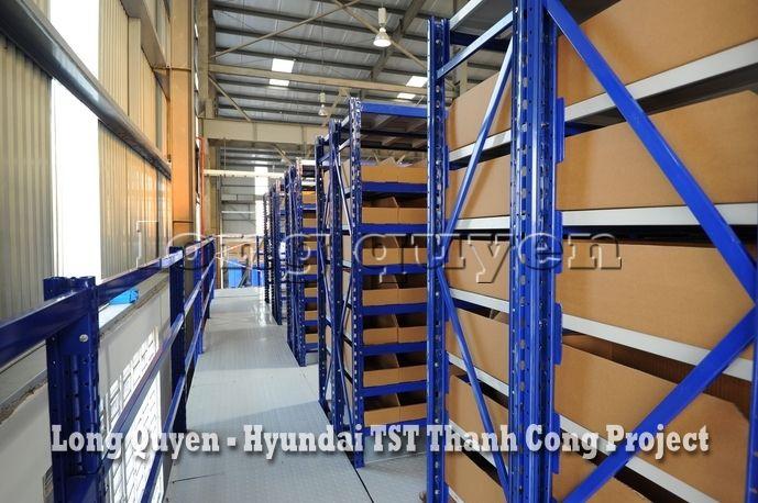 Giá Kệ Kho Phụ Tùng Sàn Tầng Lửng Công ty Hyundai TST Thành Công (6)