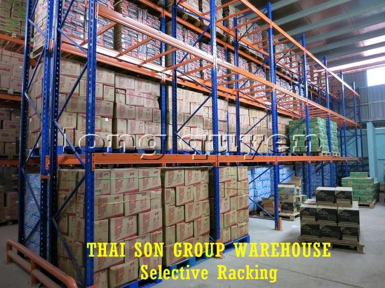 Kệ chứa hàng pallet lựa chọn Selective Pallet Rack kho Thái Sơn Group (1)