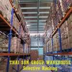 Kệ chứa hàng pallet lựa chọn Selective Pallet Rack kho Thái Sơn Group