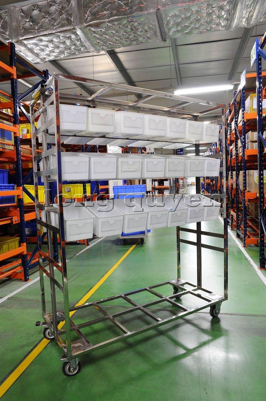 Xe đẩy vật tư đa năng xe đẩy inox trong kho hàng công ty SD Việt Nam (7)