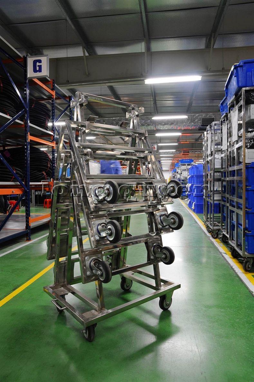 Xe đẩy vật tư đa năng xe đẩy inox trong kho hàng công ty SD Việt Nam (8)