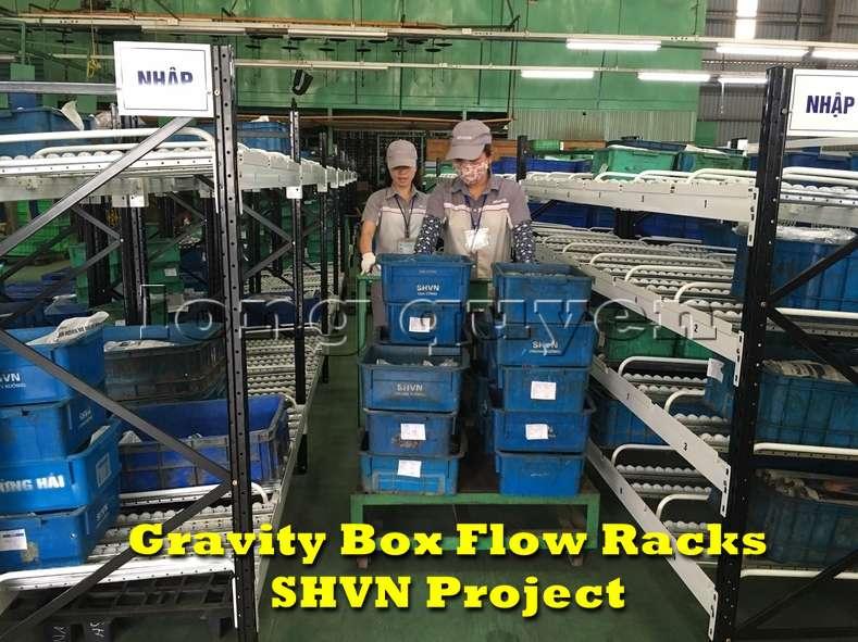 Giá kệ lưu trữ dòng chảy trong lắp ráp công nghiệp tại công ty SHVN (5)