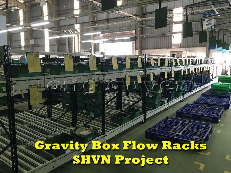 Giá kệ lưu trữ dòng chảy trong lắp ráp công nghiệp tại công ty SHVN (9)