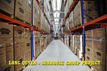Giá kệ để pallet kho hàng các sản phẩm gia dụng tập đoàn SUNHOUSE