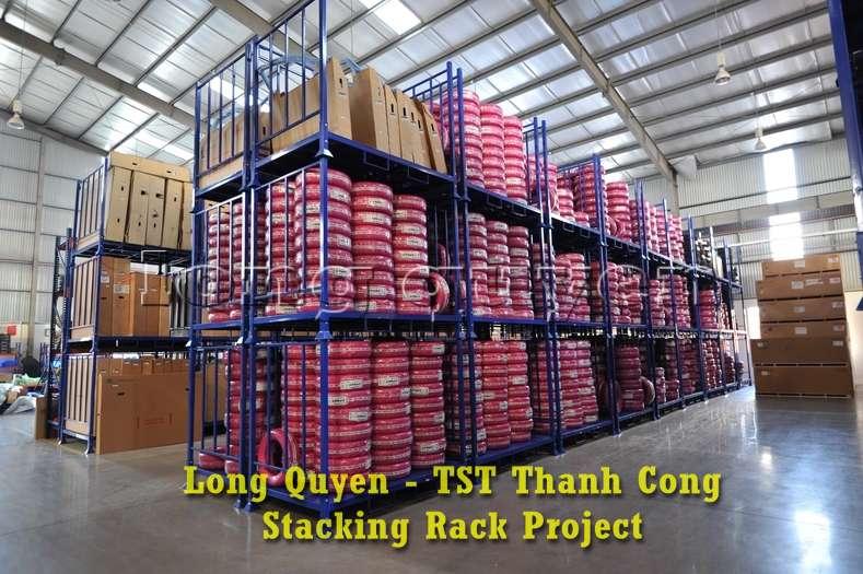 Giá kệ xếp chồng kho phụ tùng ô tô công ty TST Thành Công (4)