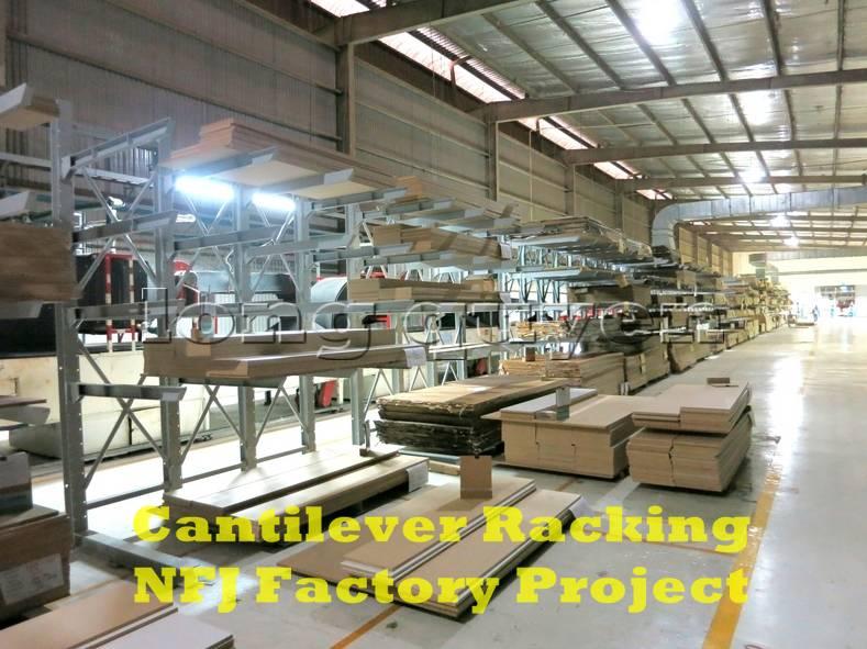 Giá kệ tay đỡ Cantilever tại dây chuyền sản xuất nội thất nhà máy NFJ (1)