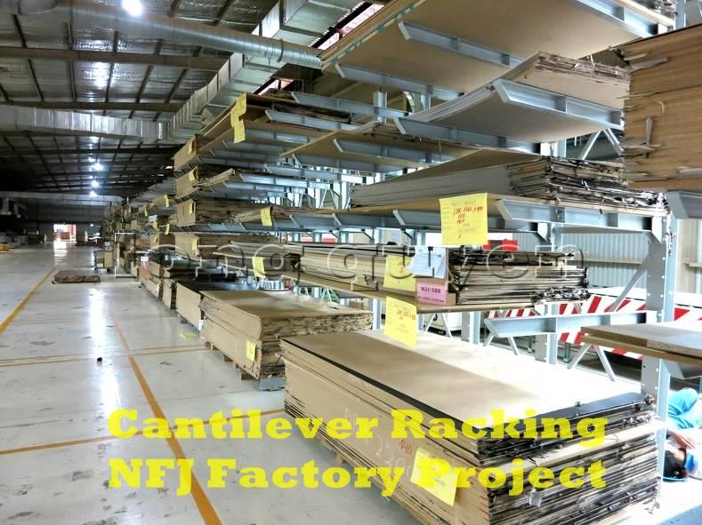 Giá kệ tay đỡ Cantilever tại dây chuyền sản xuất nội thất nhà máy NFJ (2)