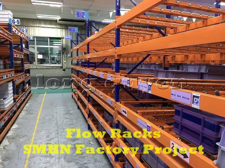 Giá kệ trôi kệ dòng chảy để vật tư trong xưởng lắp ráp nhà máy SMHN (10)