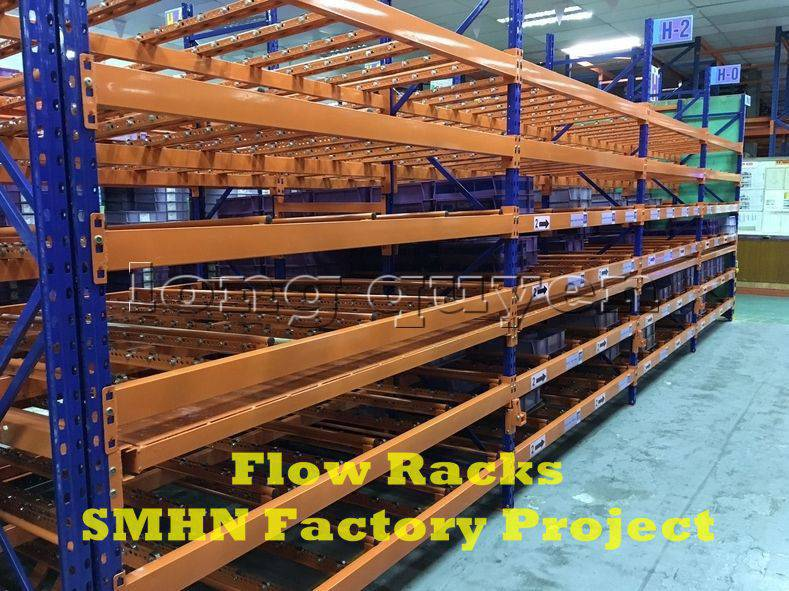 Giá kệ trôi kệ dòng chảy để vật tư trong xưởng lắp ráp nhà máy SMHN (3)