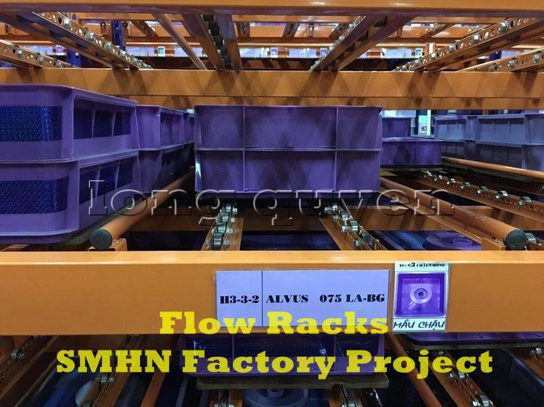 Giá kệ trôi kệ dòng chảy để vật tư trong xưởng lắp ráp nhà máy SMHN (4)