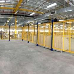 Vách ngăn lưới tháo lắp di động trong nhà máy, kho hàng công ty Santa Clara