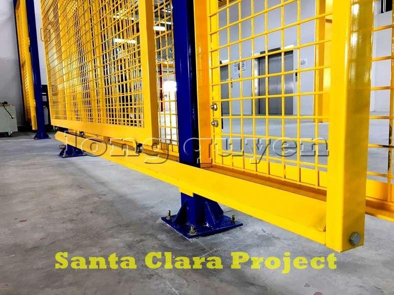 Vách ngăn lưới tháo lắp di động trong nhà máy kho hàng (6)