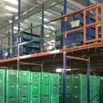 Sàn tầng lửng kho vật tư khung giá kệ pallet lắp ráp tại nhà máy DAIWA