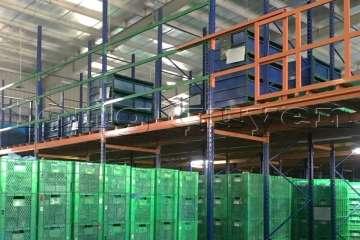 Sàn tàng lửng kho vật tư khung giá kệ pallet lắp ráp tại nhà máy DAIWA_heading