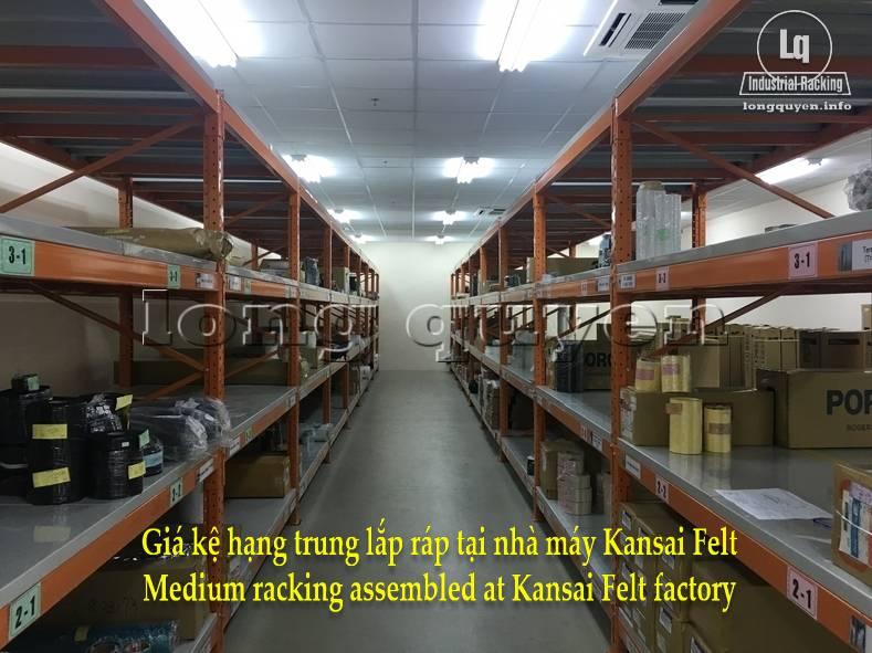 Giá kệ trung tải giá kệ hạng trung lắp ráp tại nhà máy Kansai Felt (2)