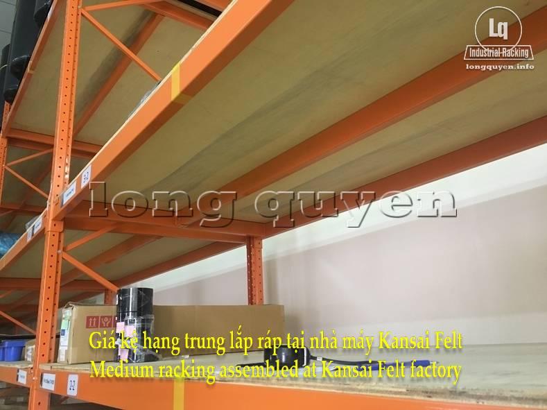 Giá kệ trung tải giá kệ hạng trung lắp ráp tại nhà máy Kansai Felt (4)