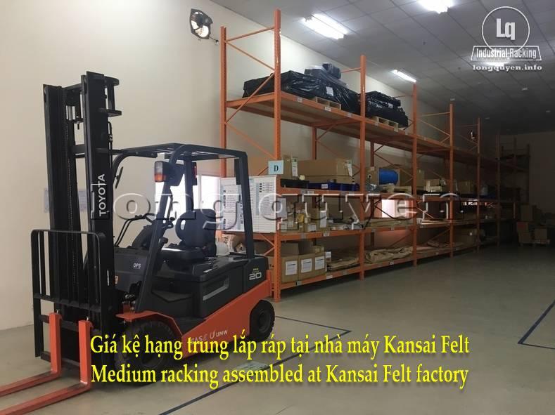 Giá kệ trung tải giá kệ hạng trung lắp ráp tại nhà máy Kansai Felt (7)
