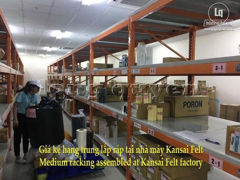 Giá kệ trung tải giá kệ hạng trung lắp ráp tại nhà máy Kansai Felt (9)