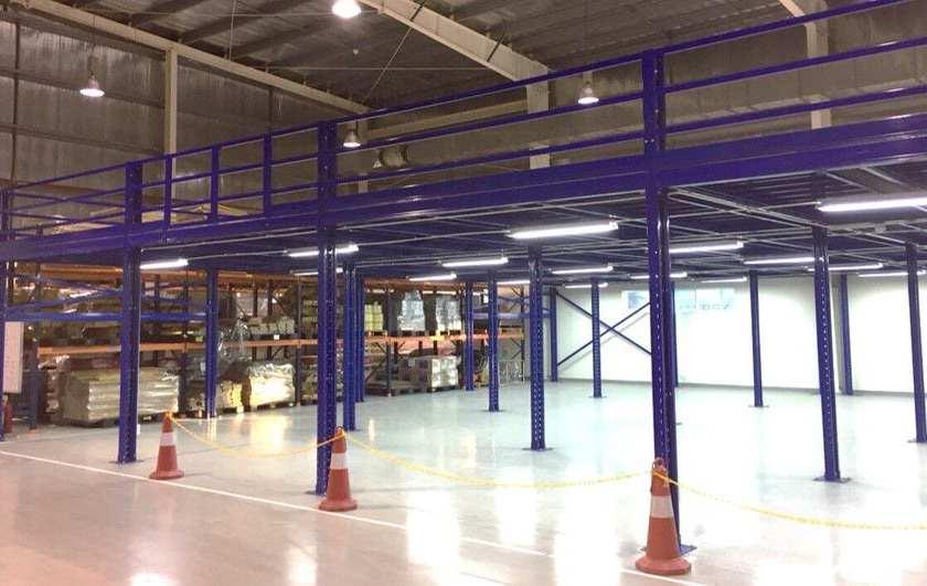 Lắp đặt sàn kho hàng tầng lửng mezzanine tại công ty Leprocon (10)