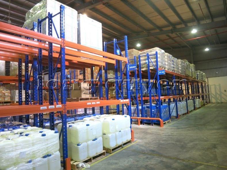 Kệ sắt kệ chứa pallet lưu trữ loại 3 thanh beam một tầng kho hàng công ty ALS (10)