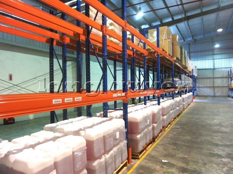 Kệ sắt kệ chứa pallet lưu trữ loại 3 thanh beam một tầng kho hàng công ty ALS (4)