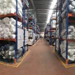 Kệ sắt kệ pallet để vải kho nguyên liệu may mặc công ty May Hà Bắc