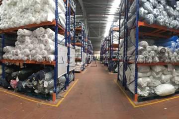 Kệ sắt kệ pallet kho hàng nguyên liệu may mặc vải cuộn công ty May Hà Bắc (10)